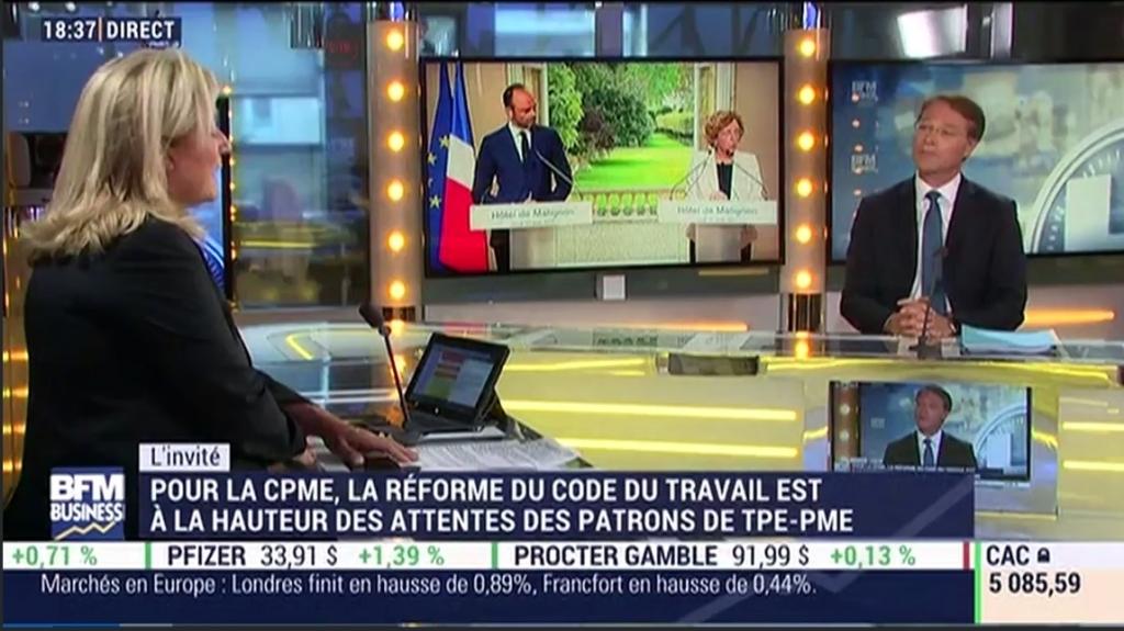 Réaction de Francois Asselin a la reforme du code du travail
