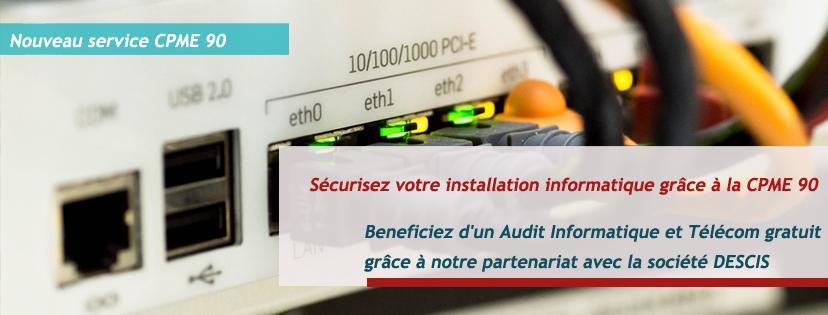 Nouveau service CPME 90 Audit informatique